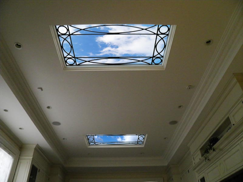 Virtual skylights (LCD panels)